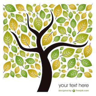 Vector de plantilla con hojas de árbol