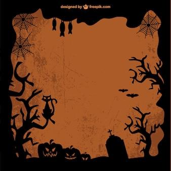Vector de plantilla de marco de Halloween