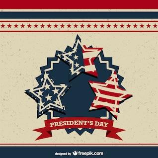 Vector de plantilla del día del presidente