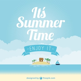 Vector de playa de verano
