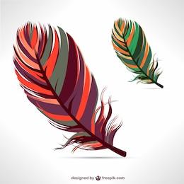 Vector de plumas coloridas