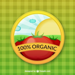 Vector de producto 100% orgánico