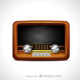 Vector de radio vintage