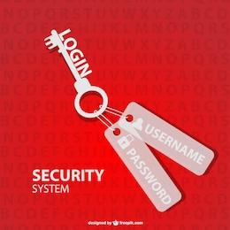 Vector de seguridad con llave