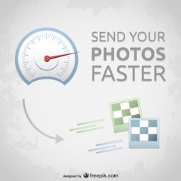 Vector de transferencia rápida de fotos