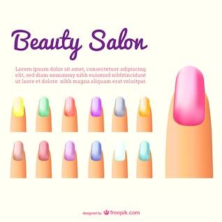 Vector de uñas de colores