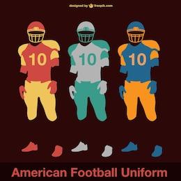 Vector de uniformes de fútbol americano