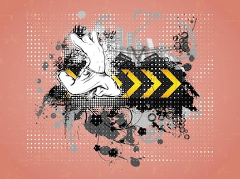 Vector del cartel abstracto urbano