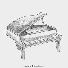 Vector dibujo de piano