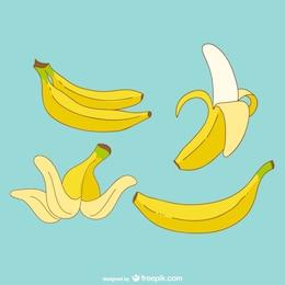 Vector dibujos de plátano
