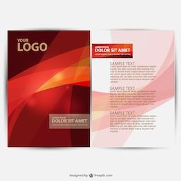 Vector diseño de folleto