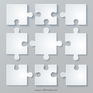 Vector diseño de rompecabezas