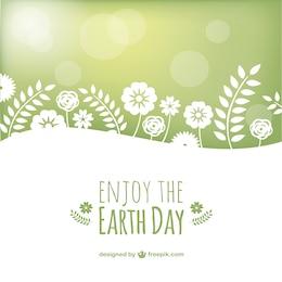 Vector disfruta el día de la Tierra