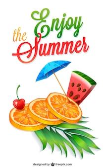 Vector disfruta el verano