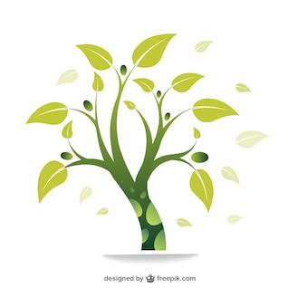 Vector ecológico con árbol
