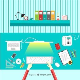 Vector escritorio de diseñador