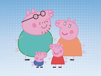 Vector Familia del cerdo
