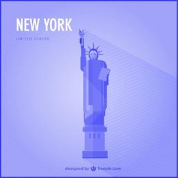 Vector fondo de Estatua de la Libertad