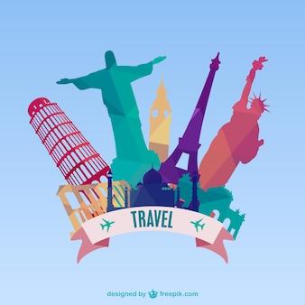 Vector fondo de viajes