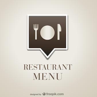Vector menú de restaurante