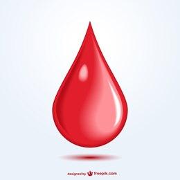 Vector gota de sangre