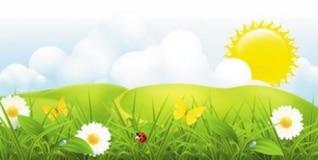 vector gratis de forma hermosa hierba gradiente