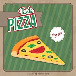 Vector gratis de porción de pizza