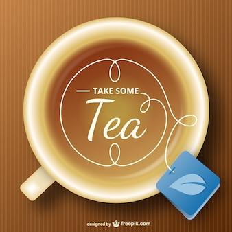 Vector gratuito de taza de té