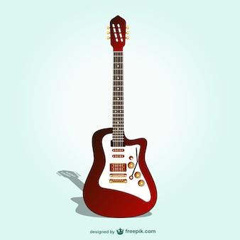 Vector guitarra eléctrica