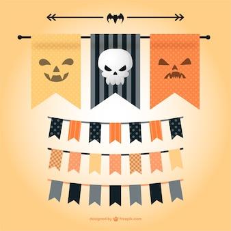 Vector banderines de Halloween