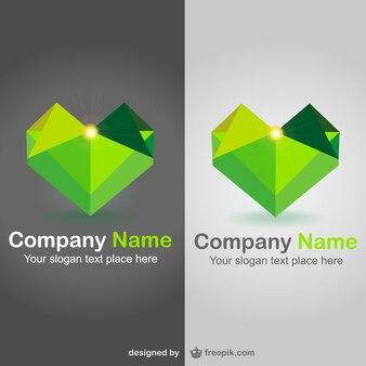 Plantillas de logos con forma de corazón