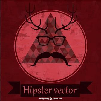 Vector hipster con cuernos