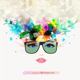 Vector ilustración de chica de moda