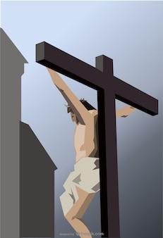 Vector ilustración de la crucifixión