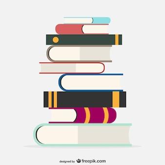 Vector ilustración de libros escolares
