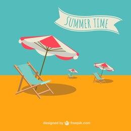 Vector ilustración de vacaciones de verano