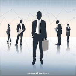Vector ilustración equipo de negocios