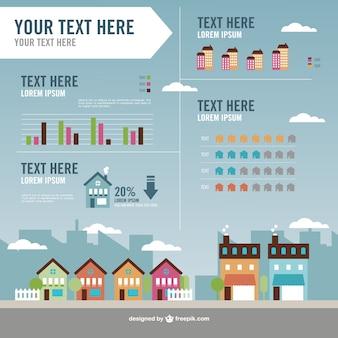 Vector infografía de propiedades inmobiliarias