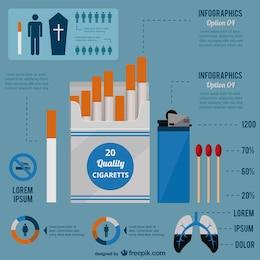 Vector infografía fumadores
