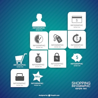 Vector infográfico de compras