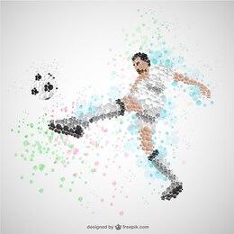 Vector jugador de fútbol