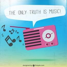 Vector la única verdad es la música