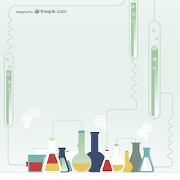 Vector laboratorio de química