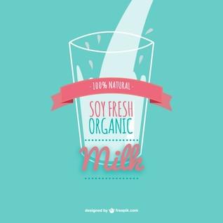 Vector leche de soja