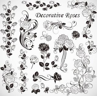 Vector libre de rosas decoración