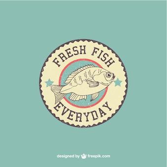 Vector logo de pescado fresco