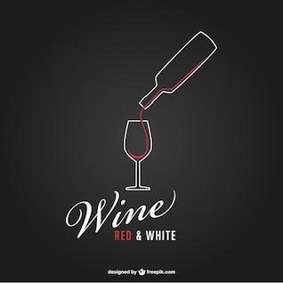 Vector logo de vino