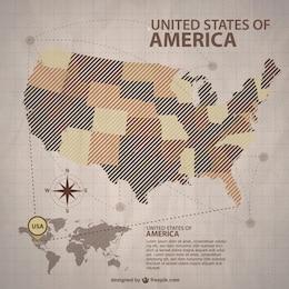 Vector mapa de Estados Unidos