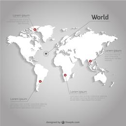 Vector mapamundi