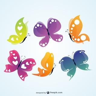 Vector mariposas de colores